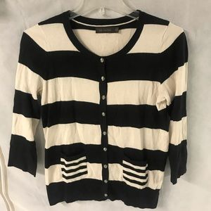 the Limited Striped Cardigan Size M